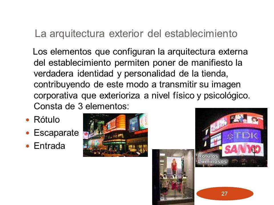 La arquitectura exterior del establecimiento