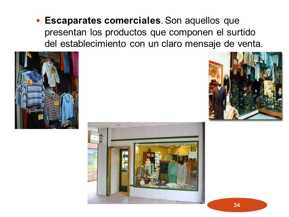Escaparates comerciales