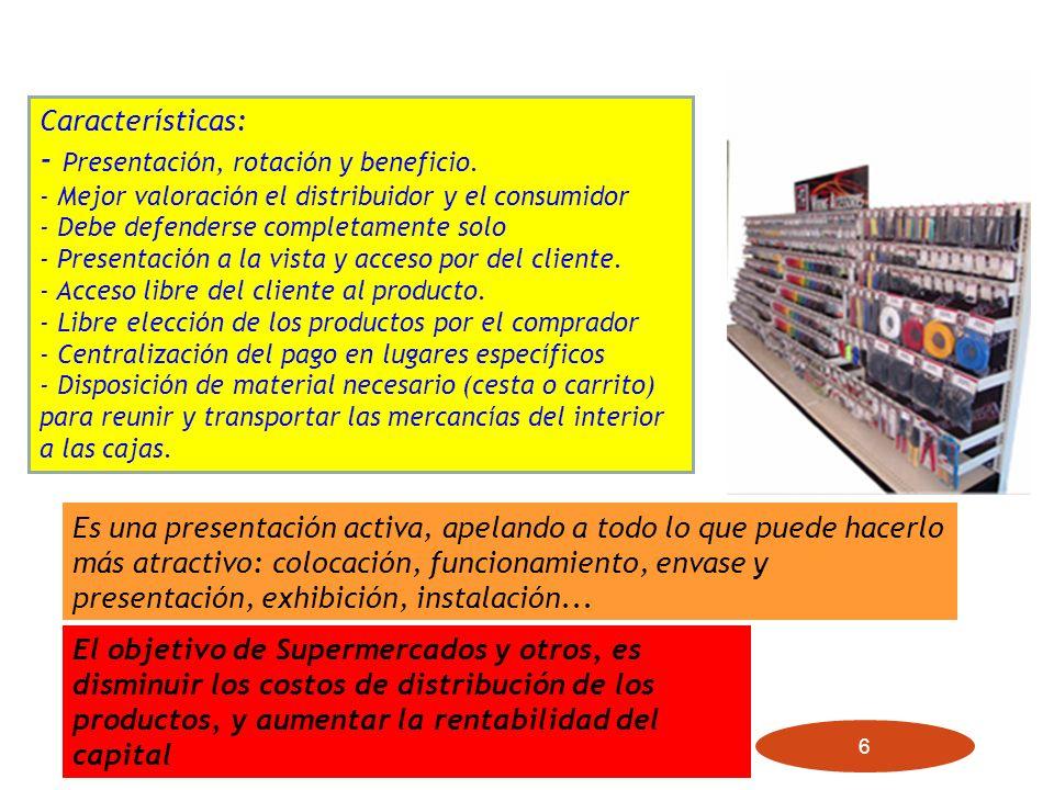 - Presentación, rotación y beneficio.
