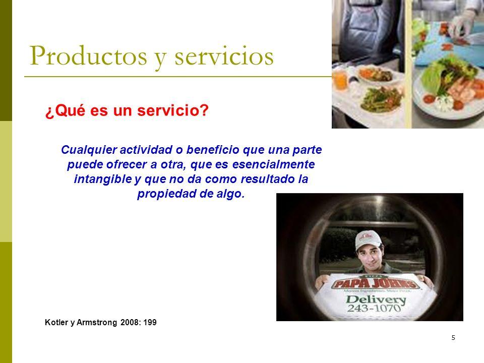 Productos y servicios ¿Qué es un servicio