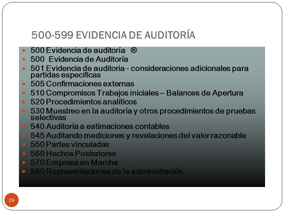 500-599 EVIDENCIA DE AUDITORÍA