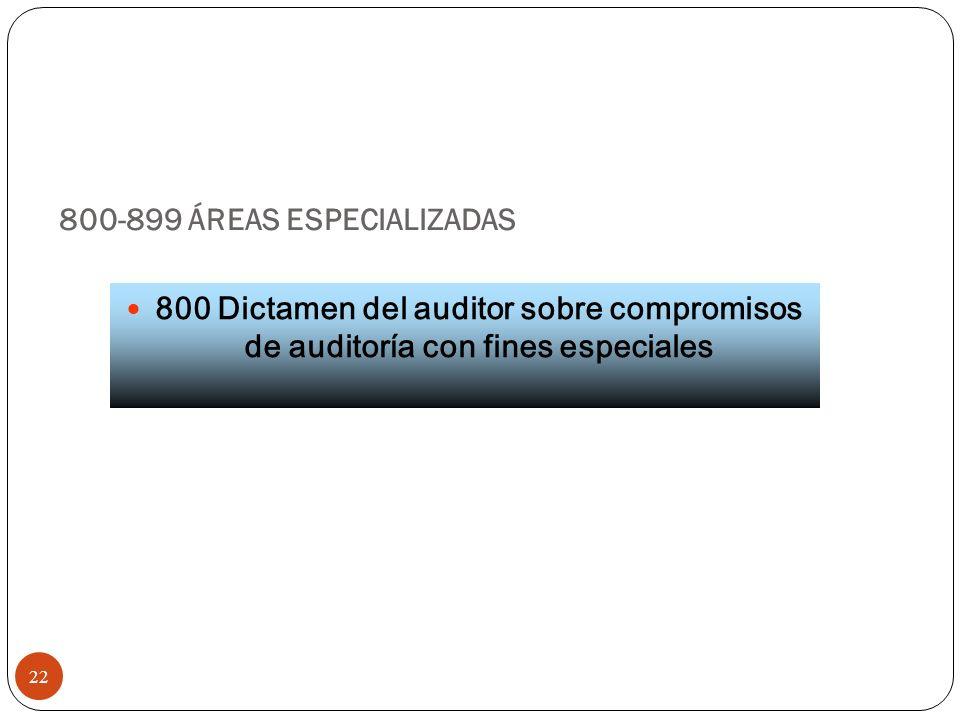 800-899 ÁREAS ESPECIALIZADAS