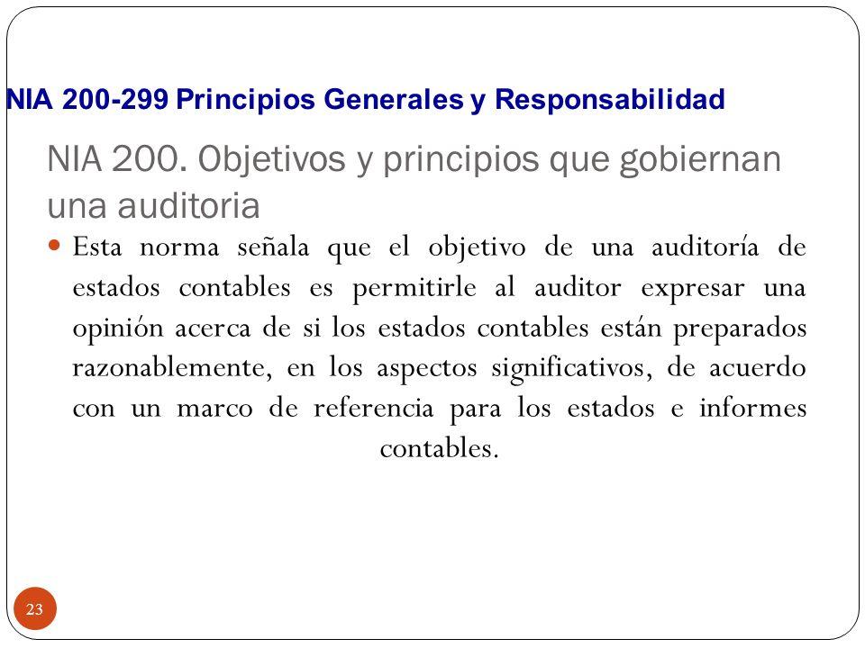 NIA 200. Objetivos y principios que gobiernan una auditoria