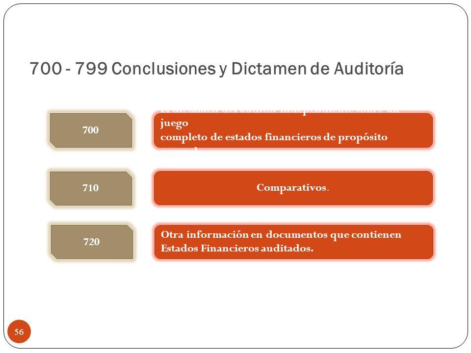 700 - 799 Conclusiones y Dictamen de Auditoría