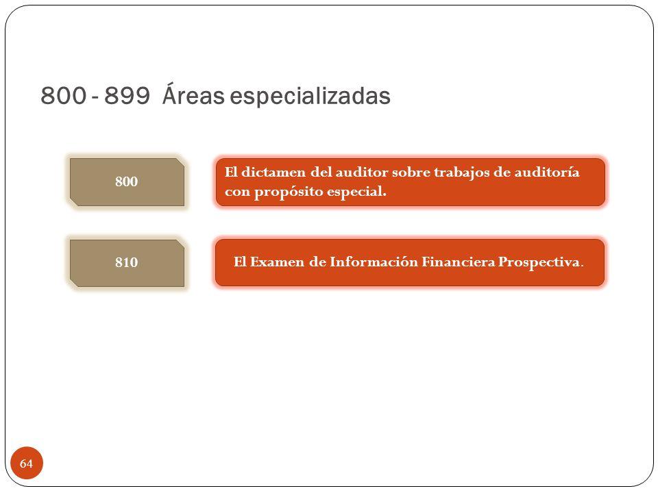 800 - 899 Áreas especializadas