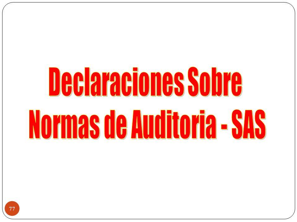 Normas de Auditoria - SAS