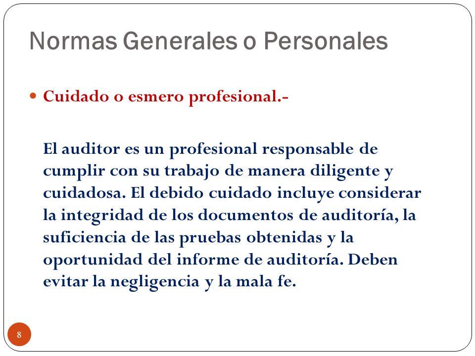 Normas Generales o Personales