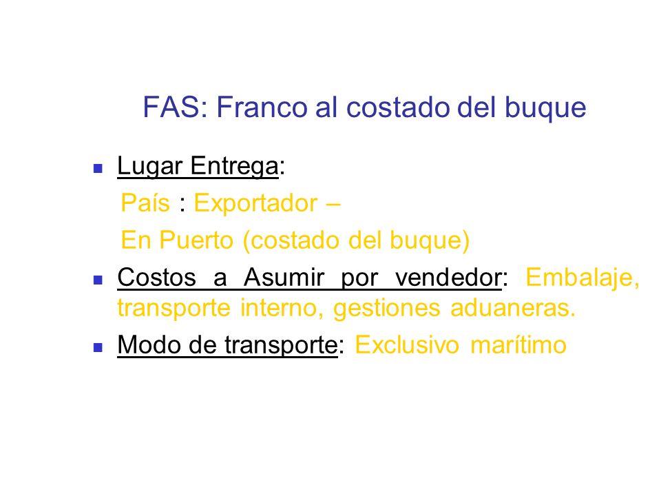 FAS: Franco al costado del buque