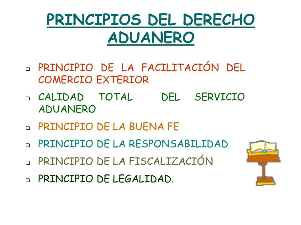 PRINCIPIOS DEL DERECHO ADUANERO