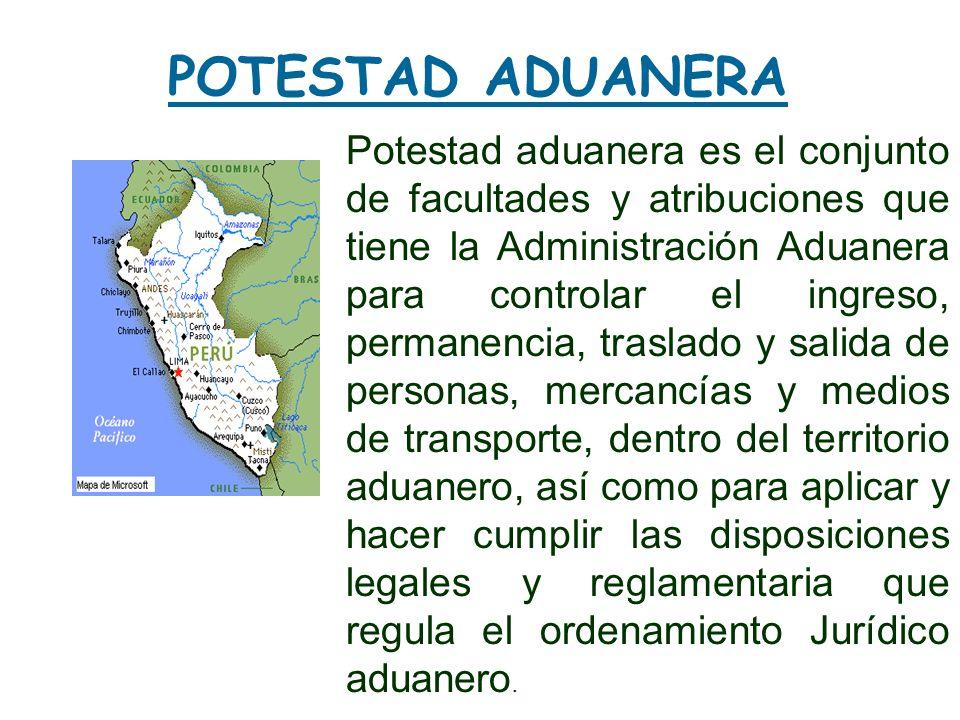 POTESTAD ADUANERA