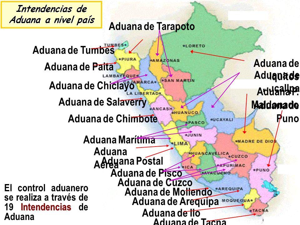 Intendencias de Aduana a nivel país