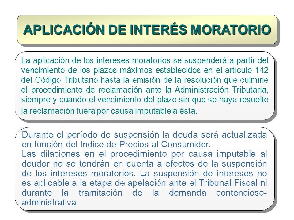 APLICACIÓN DE INTERÉS MORATORIO