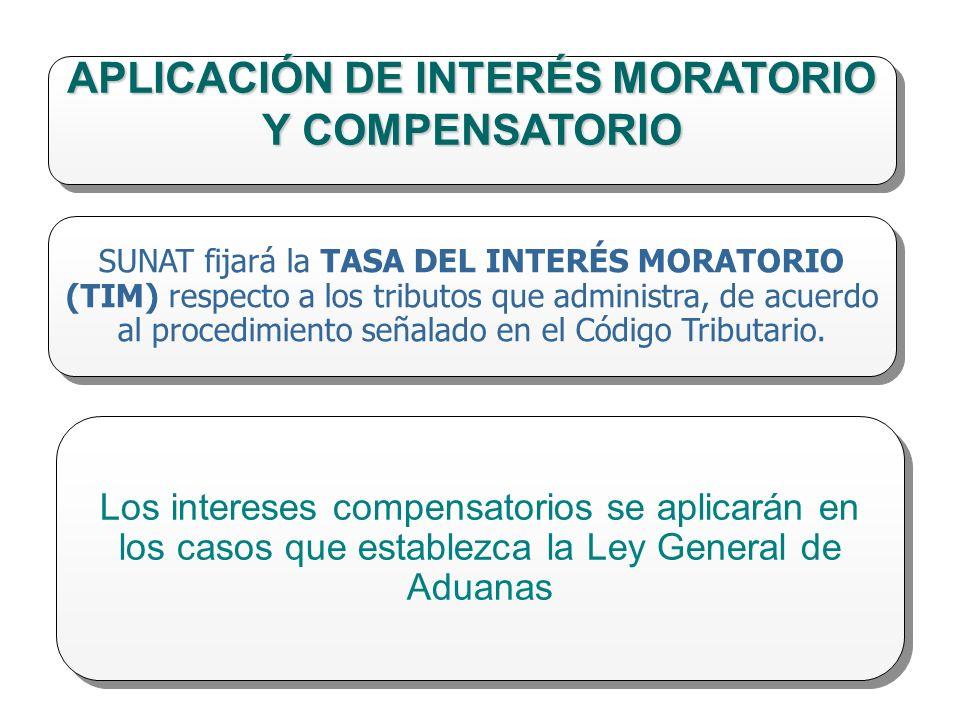 APLICACIÓN DE INTERÉS MORATORIO Y COMPENSATORIO