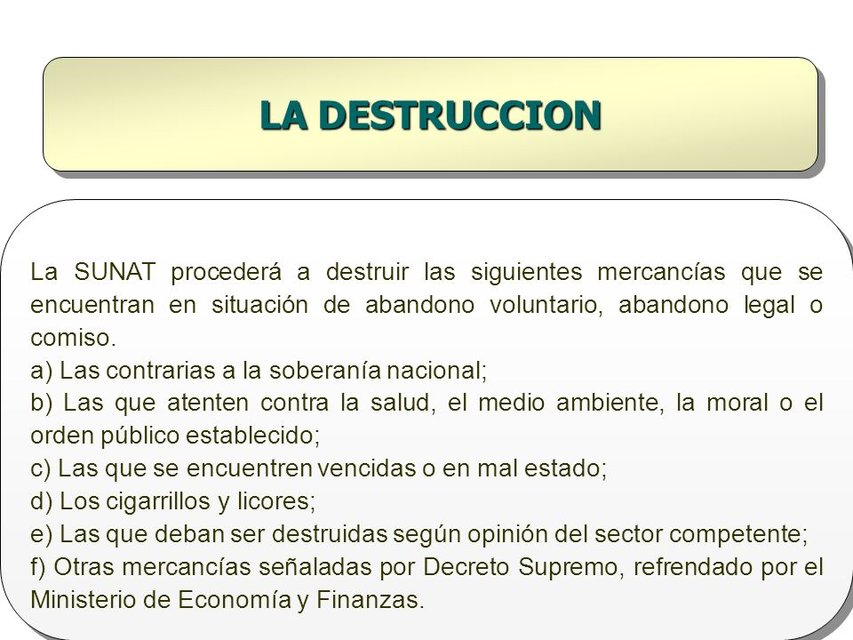 LA DESTRUCCION