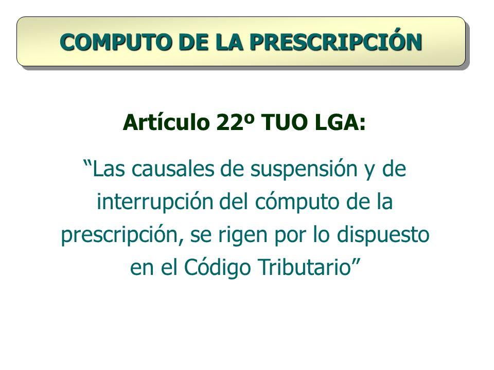 COMPUTO DE LA PRESCRIPCIÓN