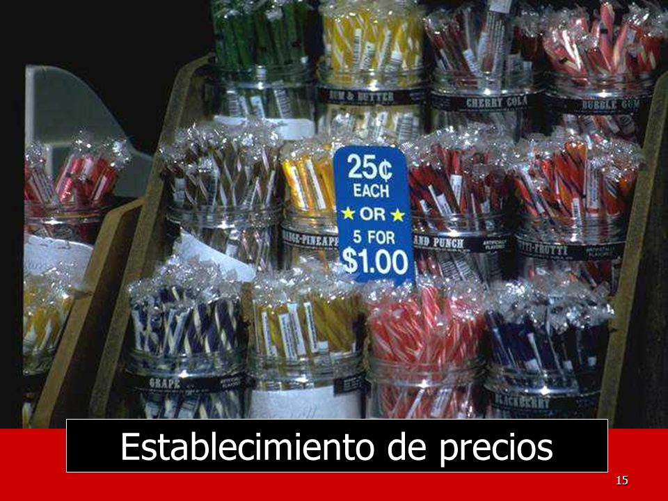 Establecimiento de precios