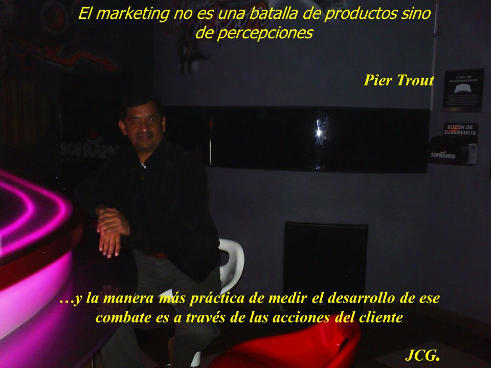 El marketing no es una batalla de productos sino de percepciones