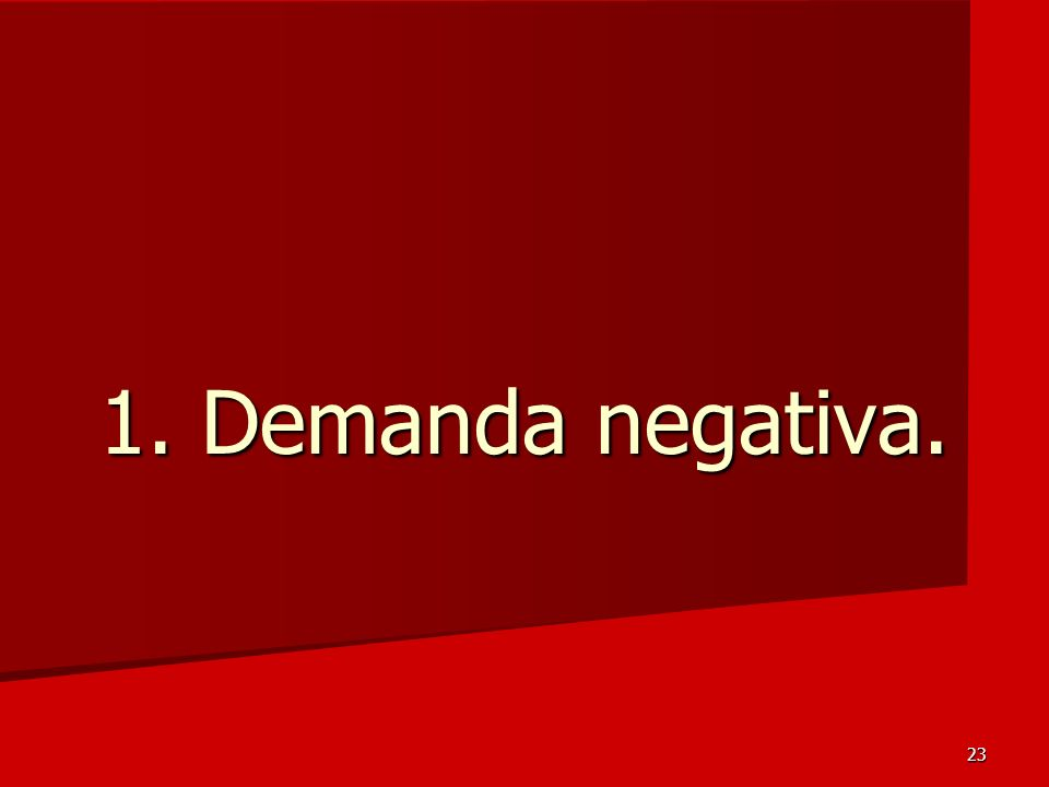 1. Demanda negativa.