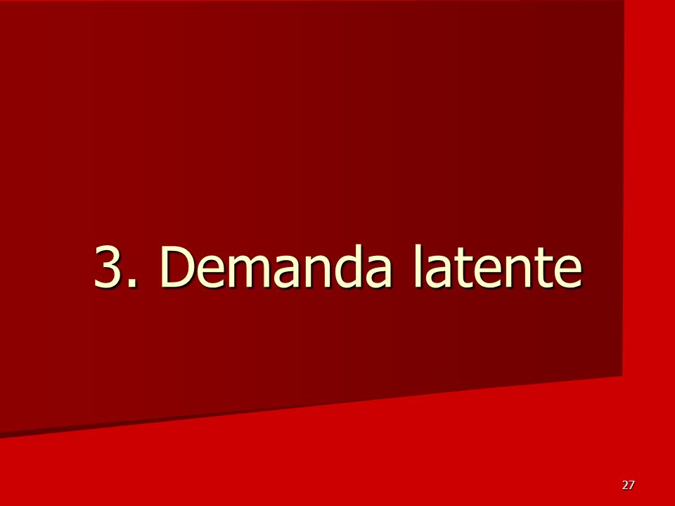 3. Demanda latente