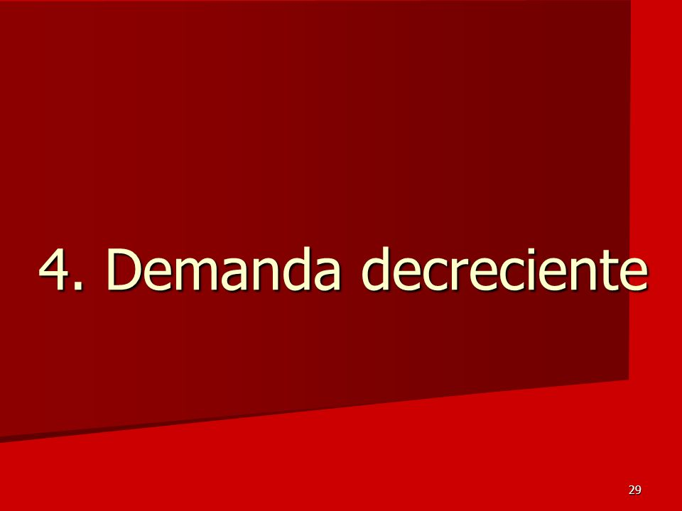4. Demanda decreciente