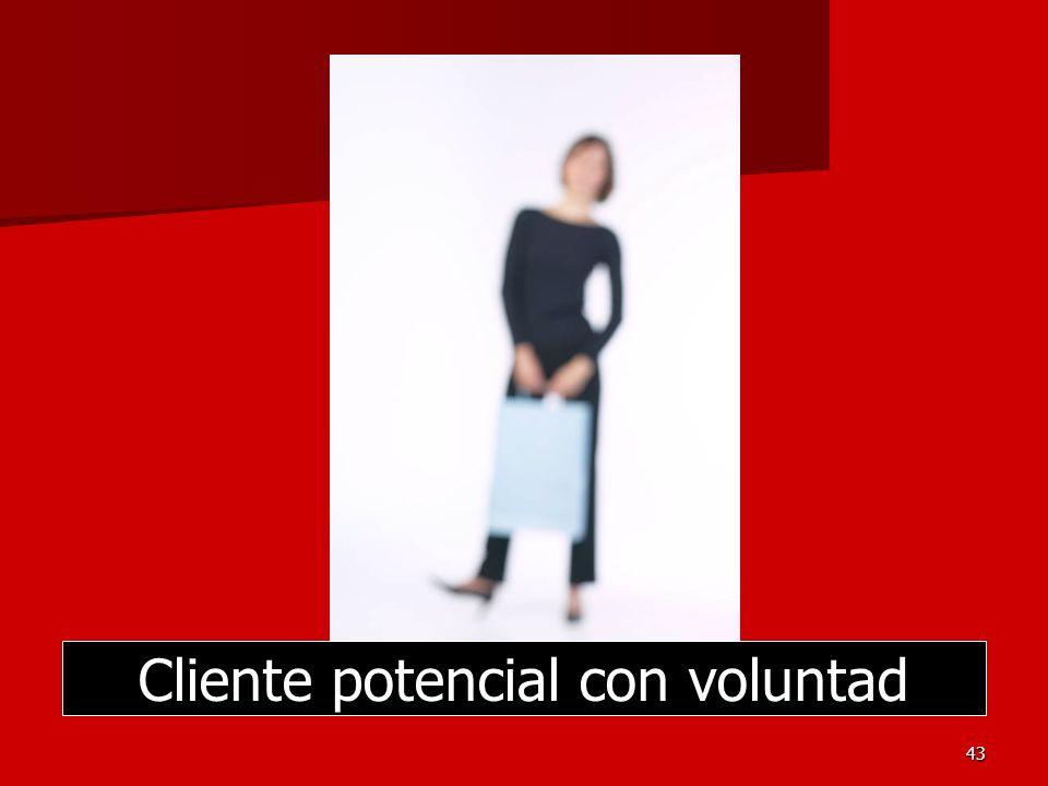 Cliente potencial con voluntad