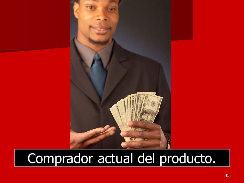 Comprador actual del producto.