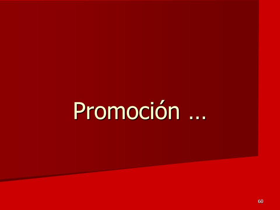 Promoción …