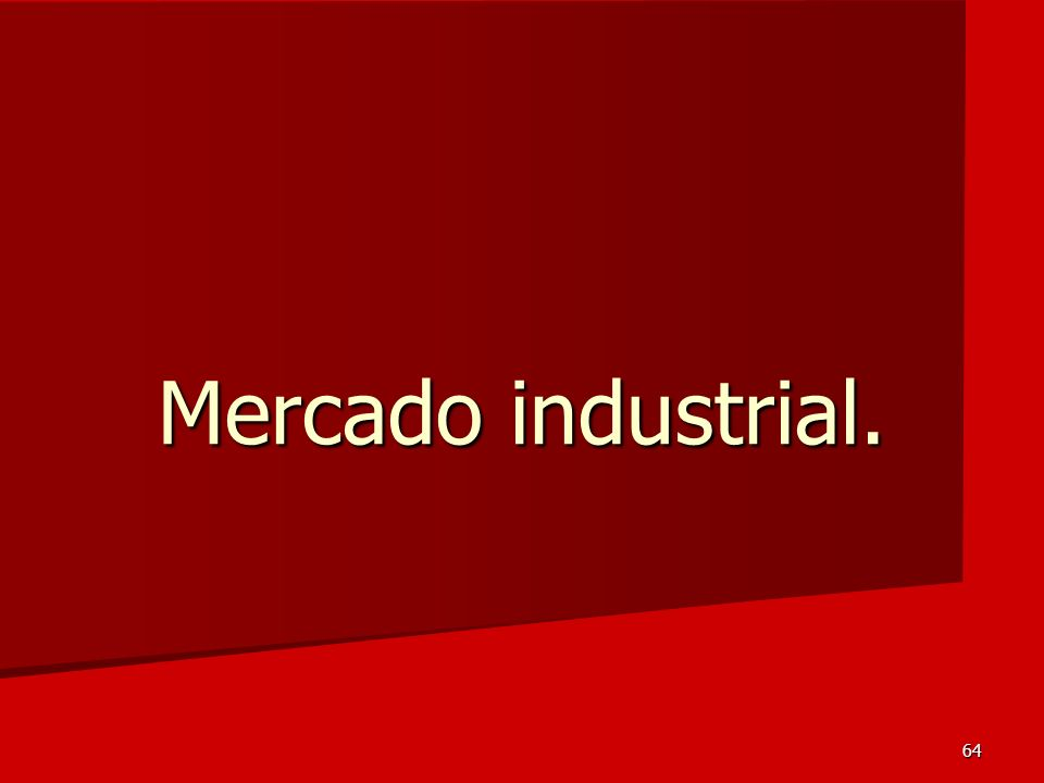 Mercado industrial.