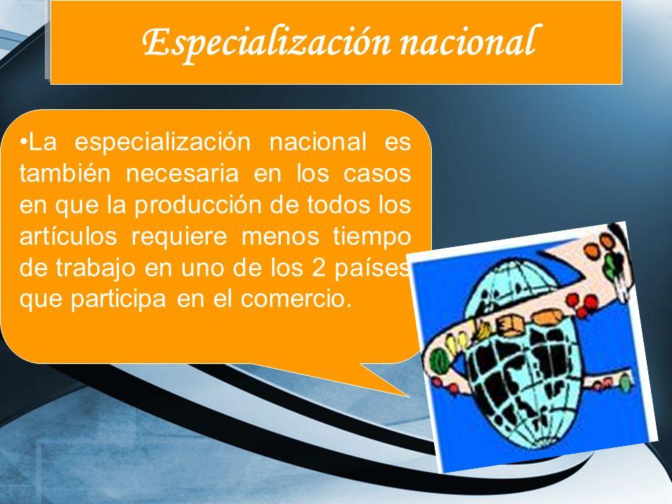 Especialización nacional