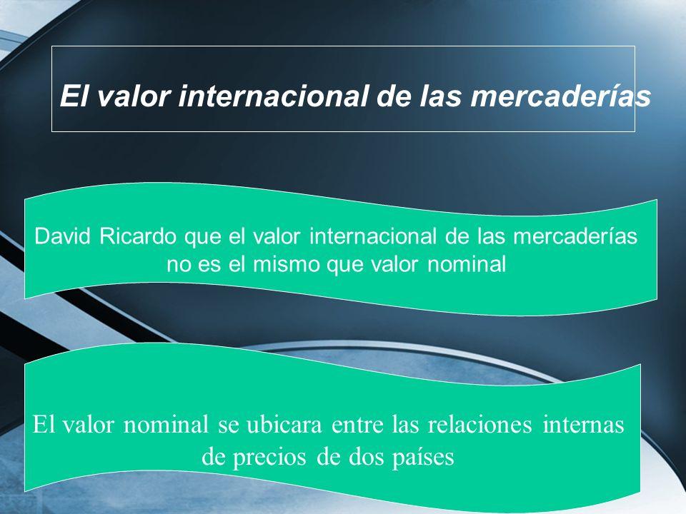 El valor internacional de las mercaderías