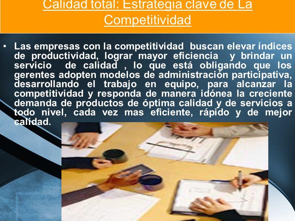 Calidad total: Estrategia clave de La Competitividad