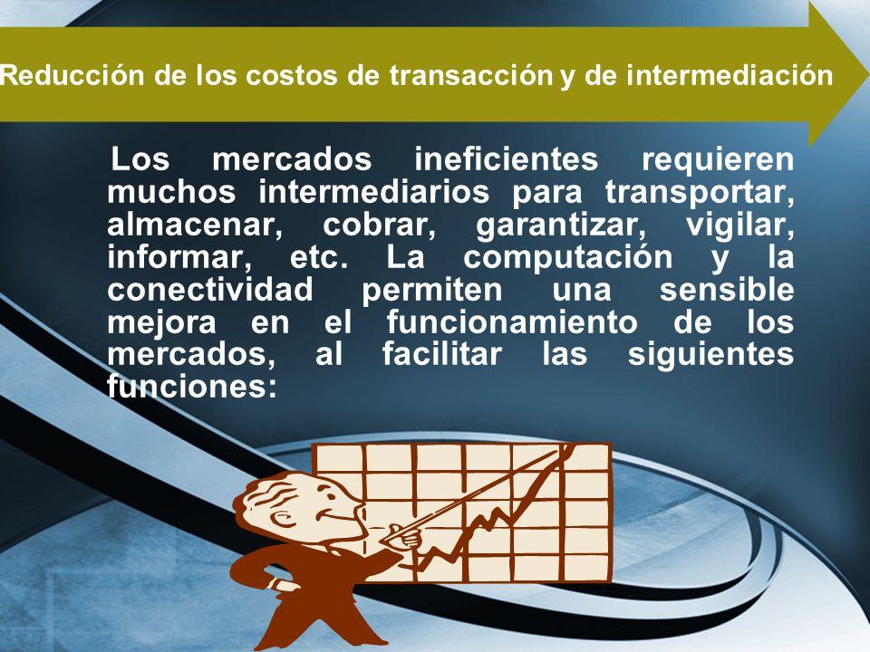 Reducción de los costos de transacción y de intermediación