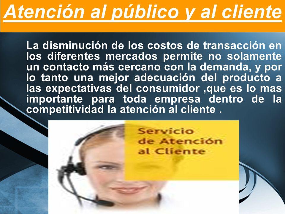 Atención al público y al cliente
