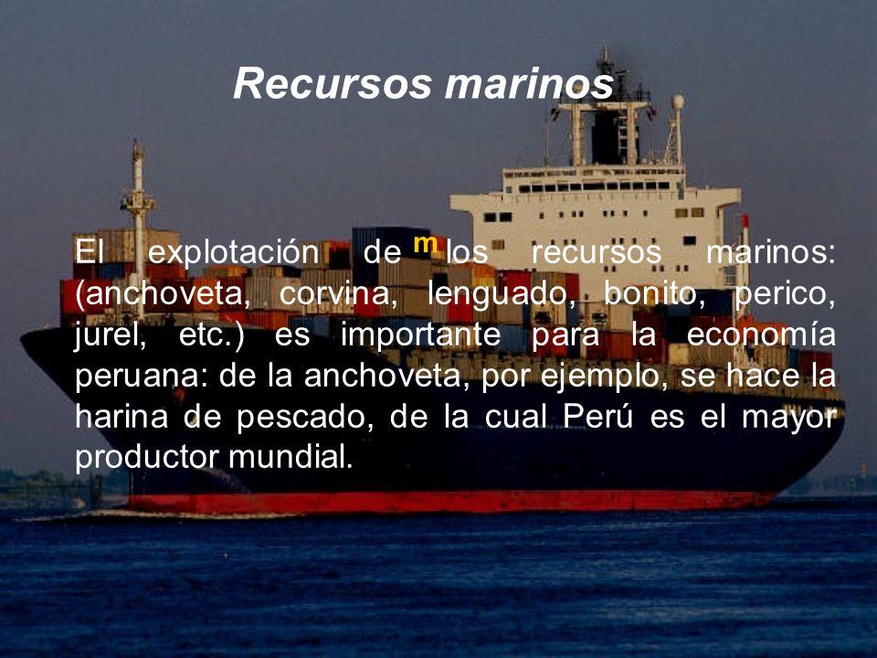 Recursos marinos m.