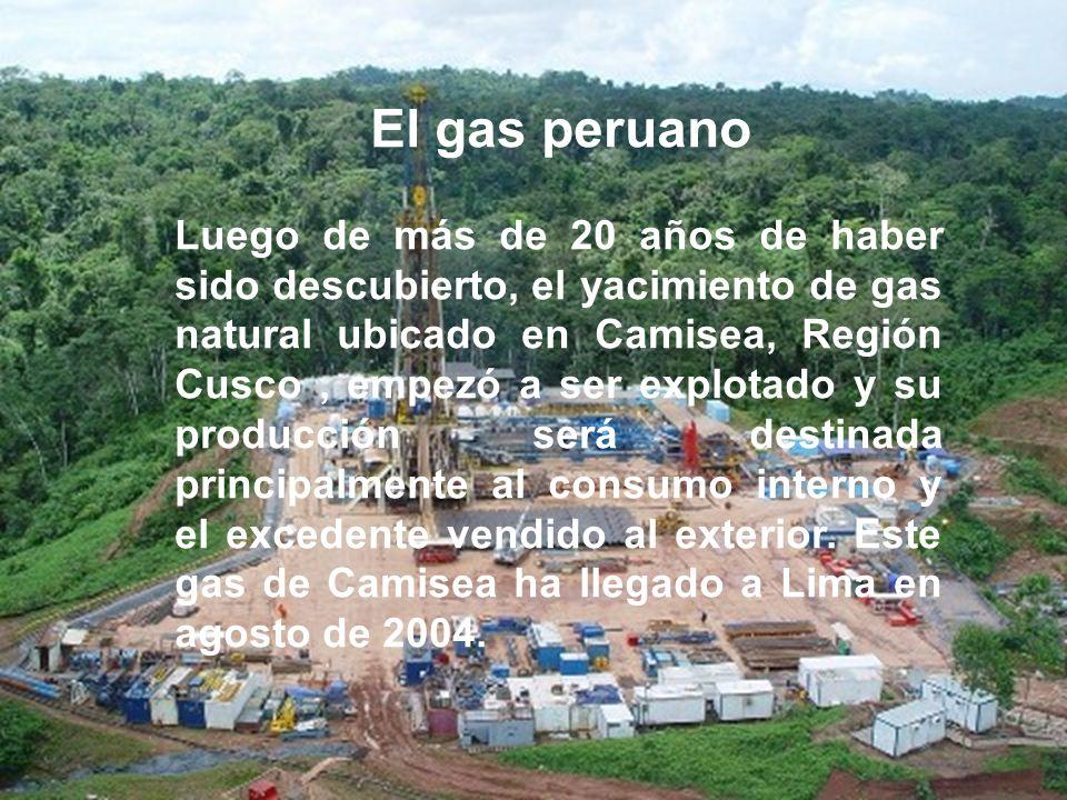 El gas peruano