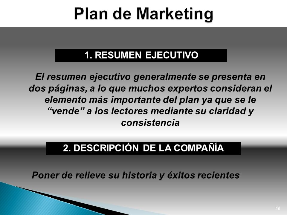 Plan de Marketing 1. RESUMEN EJECUTIVO
