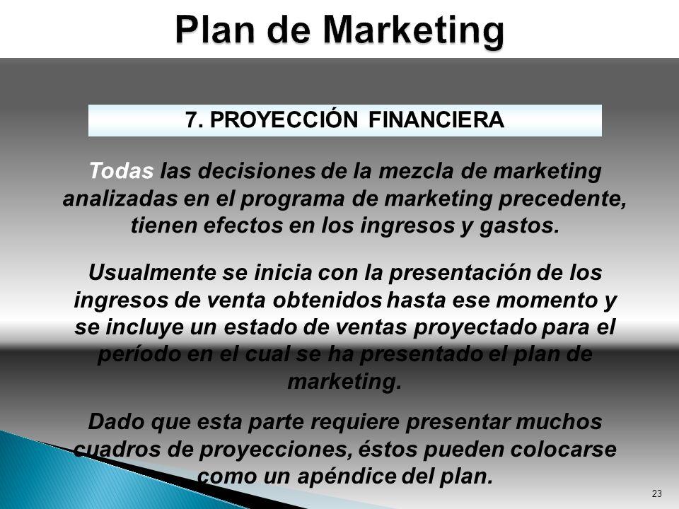 7. PROYECCIÓN FINANCIERA