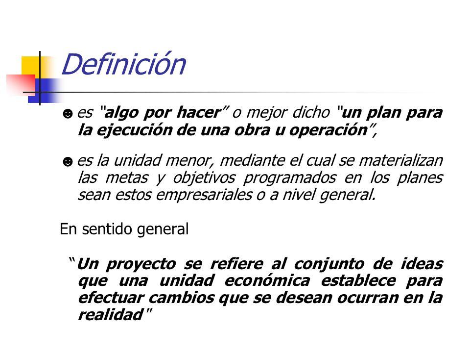 Definición ☻es algo por hacer o mejor dicho un plan para la ejecución de una obra u operación ,