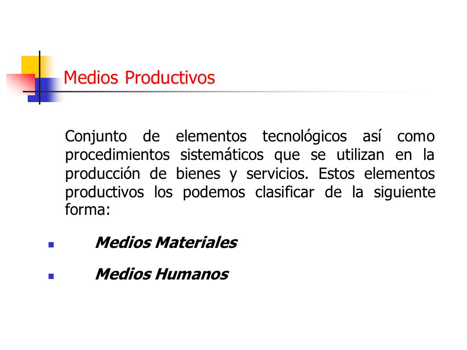 Medios Productivos