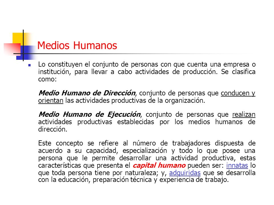 Medios Humanos
