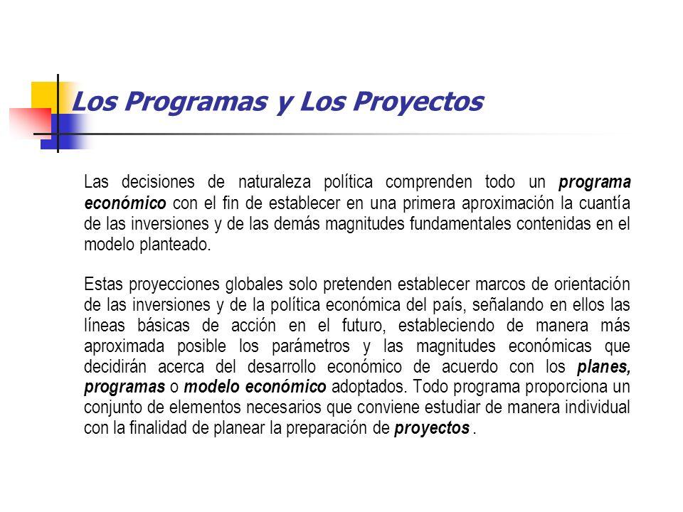 Los Programas y Los Proyectos