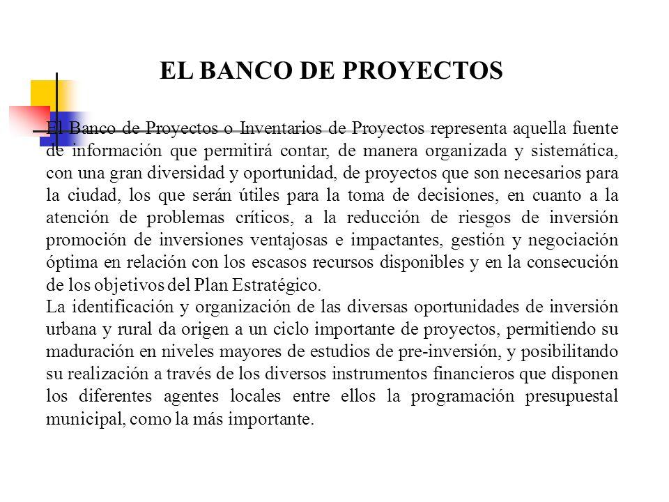 EL BANCO DE PROYECTOS