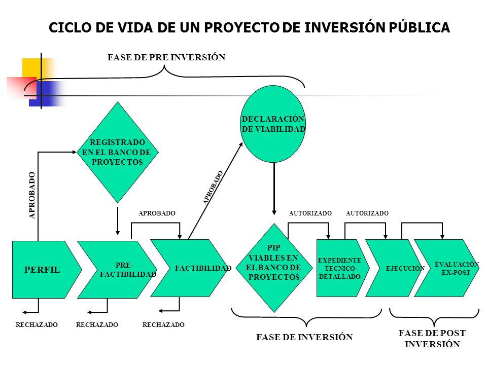 CICLO DE VIDA DE UN PROYECTO DE INVERSIÓN PÚBLICA