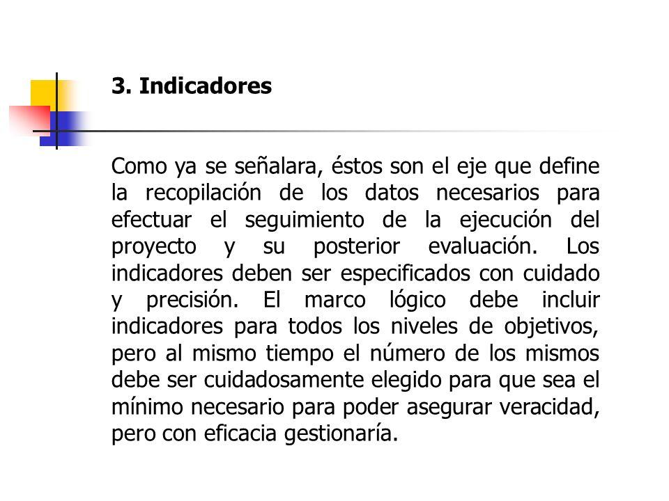 3. Indicadores