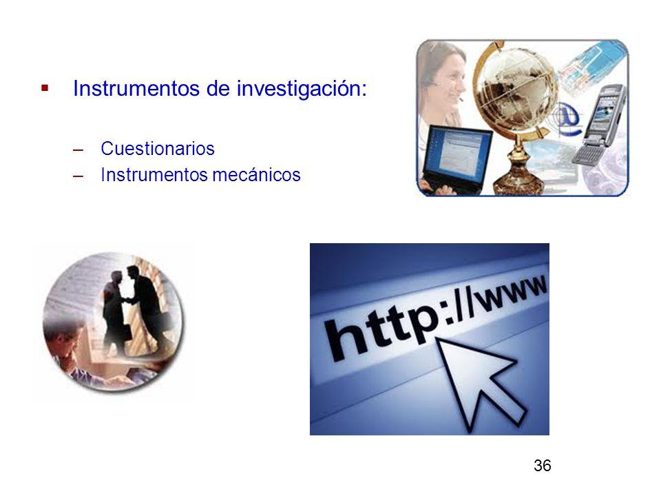 Instrumentos de investigación: