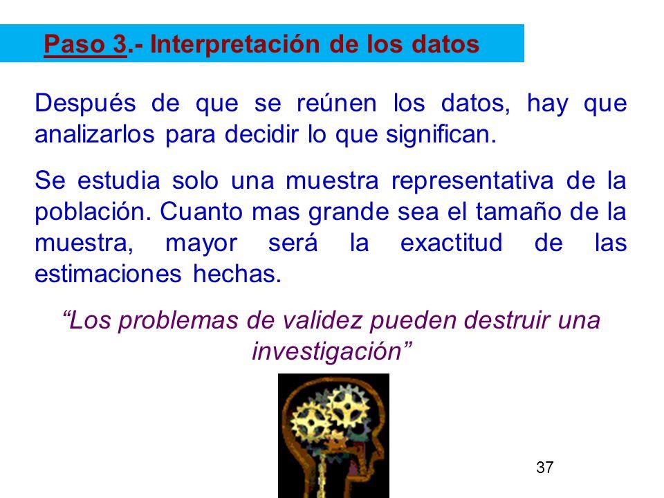 Paso 3.- Interpretación de los datos