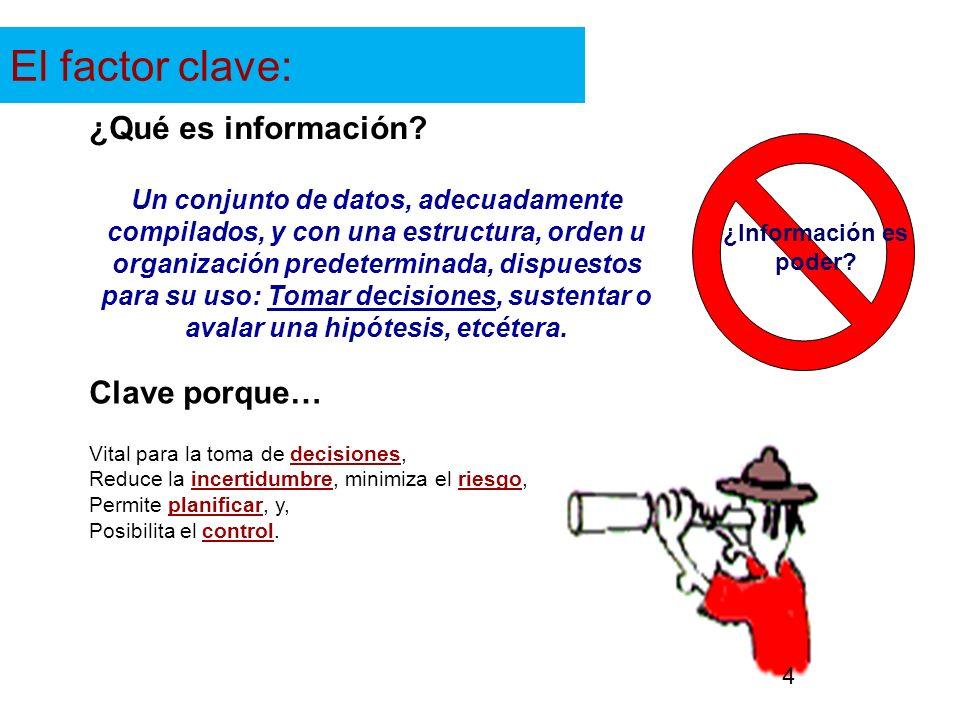 El factor clave: ¿Qué es información Clave porque…