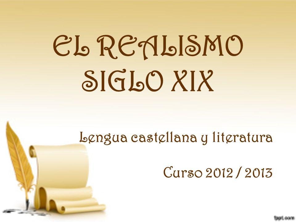 Lengua castellana y literatura Curso 2012 / 2013