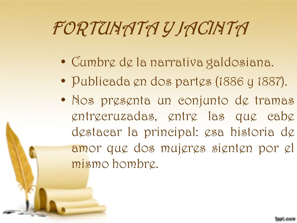 FORTUNATA Y JACINTA Cumbre de la narrativa galdosiana.