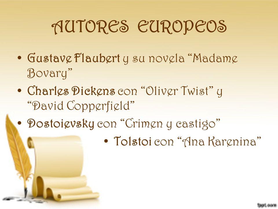 AUTORES EUROPEOS Gustave Flaubert y su novela Madame Bovary